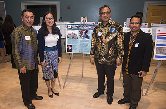 Image of Global Fellow Emilia Tanu with Embassy of Indonesia supervisors at Final Reception in May 2016